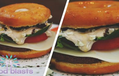Balsamic Aioli Donut Burger