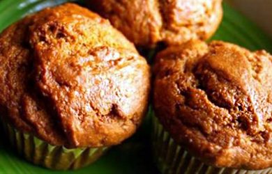 flourless sweet potato muffins