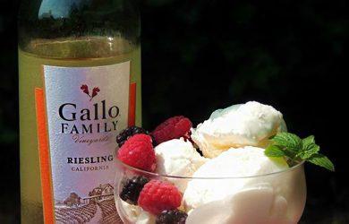 white wine ice cream