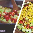 Cucumber and Corn Summer Salad