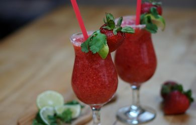 Strawberry And Lime Frozen Margarita