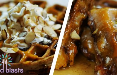 Sweet Potato Grilled Cheese Waffle